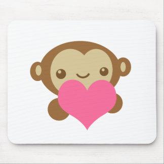 Amor del mono tapetes de raton