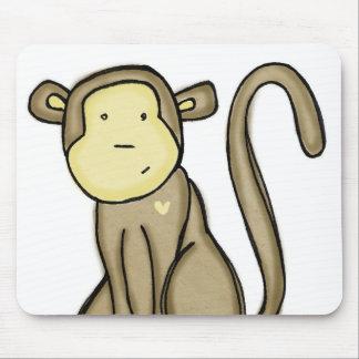 amor del mono tapete de ratón