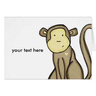 amor del mono tarjeta de felicitación