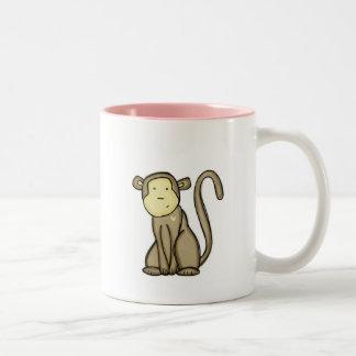 amor del mono taza de dos tonos