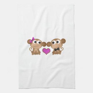Amor del mono toallas de mano