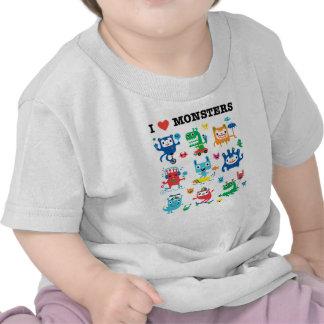 Amor del monstruo camiseta