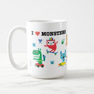 Amor del monstruo taza de café