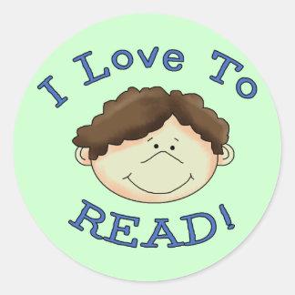 Amor del muchacho I para leer las camisetas y los Pegatinas