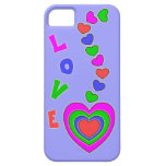 Amor del multicolor y caso del iPhone 5 de la lava iPhone 5 Cárcasa