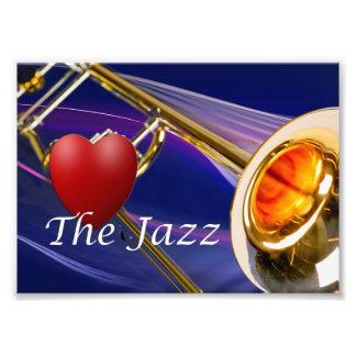 Amor del músico del Trombone la imagen de la Fotografía