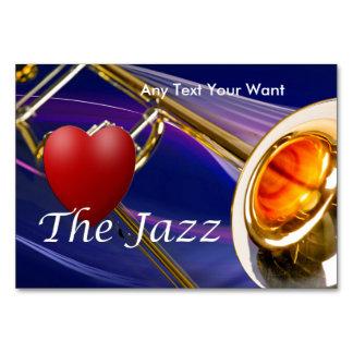 Amor del músico del Trombone las tarjetas de la