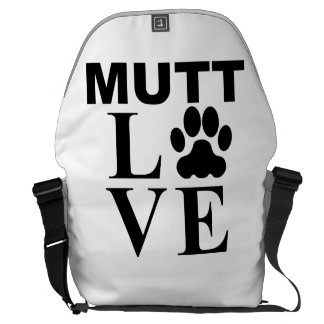 Amor del Mutt Bolsas Messenger