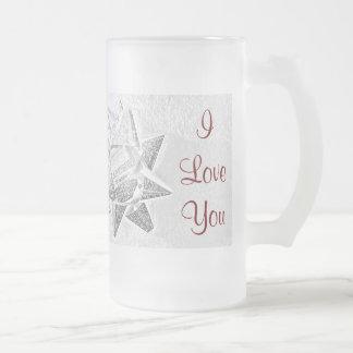 Amor del navidad de la madre taza cristal mate