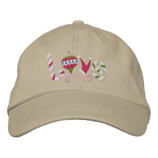 Amor del navidad gorras de béisbol bordadas