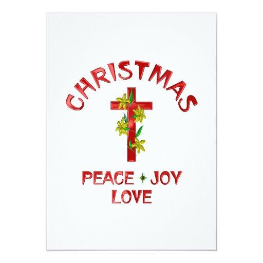 Amor del navidad invitación 12,7 x 17,8 cm