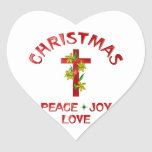 Amor del navidad calcomania de corazon personalizadas