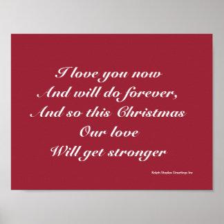 Amor del navidad póster