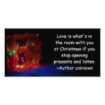 Amor del navidad tarjeta con foto personalizada