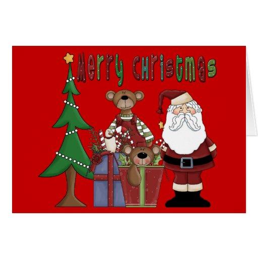 Amor del navidad tarjeta de felicitación