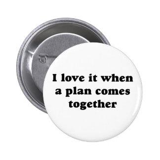 Amor del negro I él botón Pins