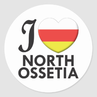 Amor del norte de Ossetia Pegatina Redonda