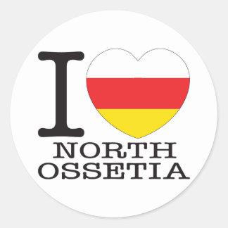 Amor del norte v2 de Ossetia Pegatina Redonda