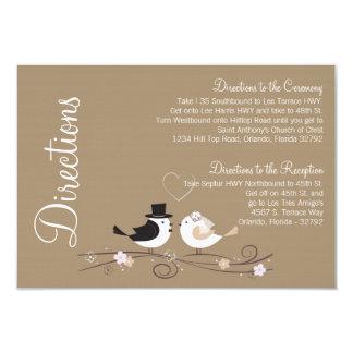 """amor del novio de la novia de los pájaros del boda invitación 3.5"""" x 5"""""""