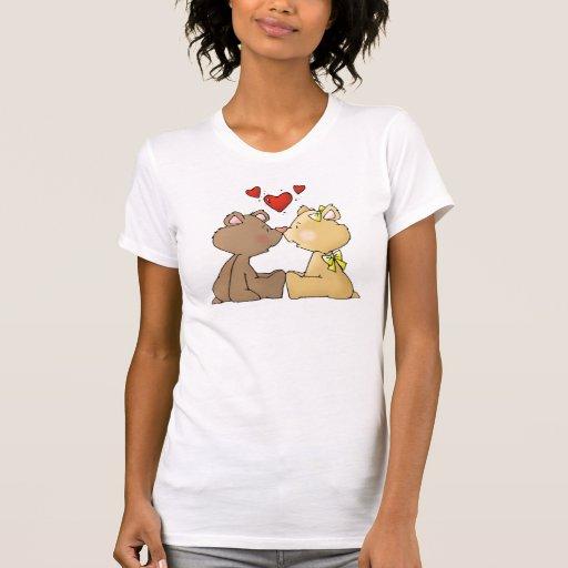 Amor del oso camiseta