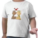 Amor del oso camisetas