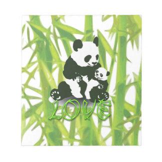 Amor del oso de panda para su bebé libretas para notas