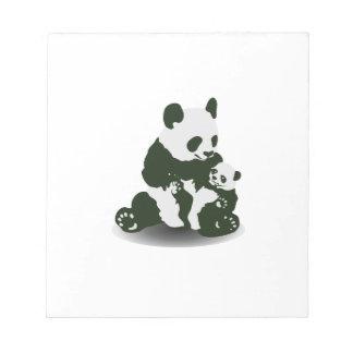 Amor del oso de panda para su bebé blocs de papel
