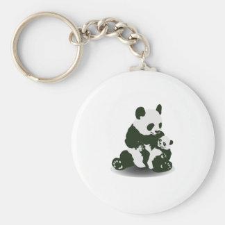Amor del oso de panda para su bebé llavero personalizado