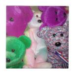 Amor del oso de peluche azulejos cerámicos