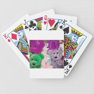 Amor del oso de peluche barajas de cartas