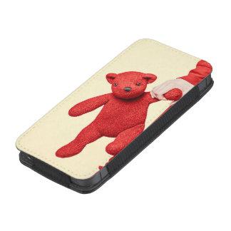 Amor del oso de peluche funda acolchada para iPhone