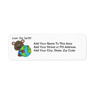 Amor del oso la tierra etiqueta de remite
