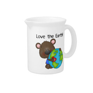 Amor del oso la tierra jarron