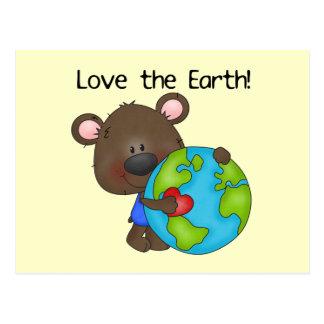 Amor del oso la tierra tarjeta postal