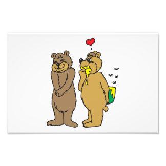 Amor del oso arte fotográfico