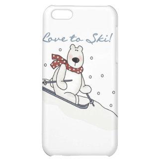 Amor del oso polar al esquí y a los regalos