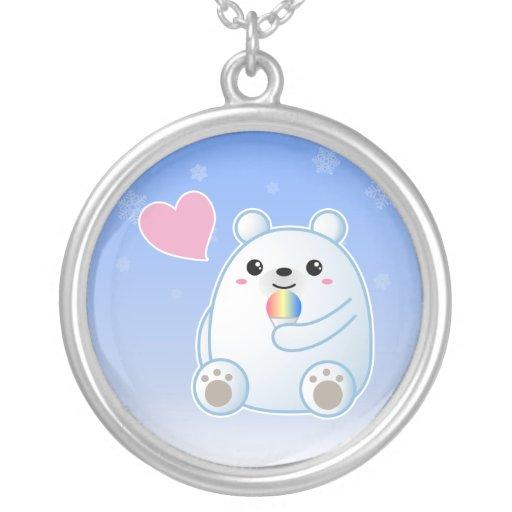 Amor del oso polar collar