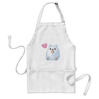 Amor del oso polar delantal