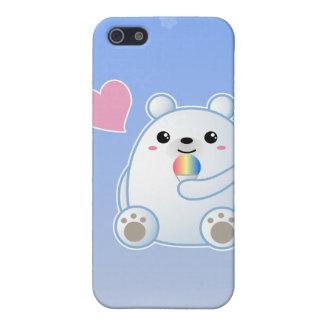 Amor del oso polar iPhone 5 carcasas
