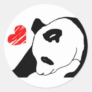Amor del oso polar pegatina redonda