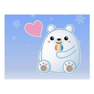 Amor del oso polar tarjeta postal