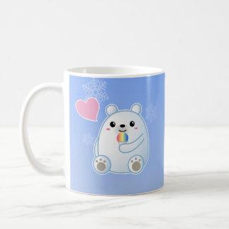 Amor del oso polar taza