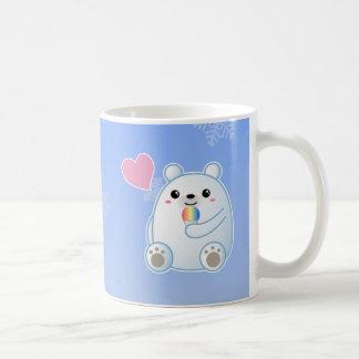 Amor del oso polar taza de café