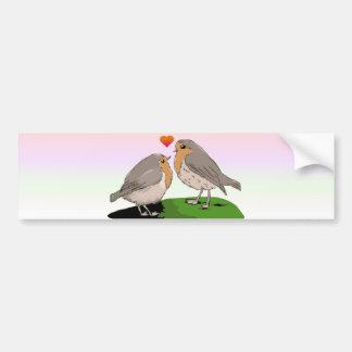 Amor del pájaro del redbreast del petirrojo pegatina para auto