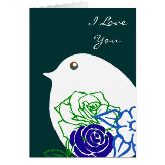 ¡Amor del pájaro! Tarjeta Pequeña