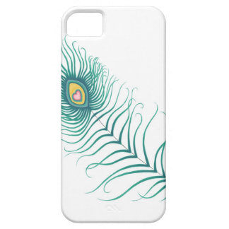 Amor del pavo real funda para iPhone 5 barely there