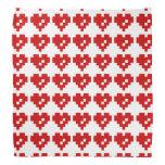 Amor del pedazo del corazón 8 del pixel bandana