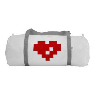 Amor del pedazo del corazón 8 del pixel bolsa de deporte