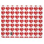 Amor del pedazo del corazón 8 del pixel cuaderno grapado
