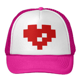 Amor del pedazo del corazón 8 del pixel gorras de camionero